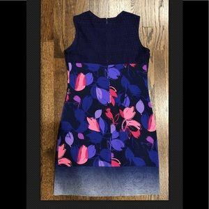 Ellie Tahari Silk purple Floral Dress Sz 6